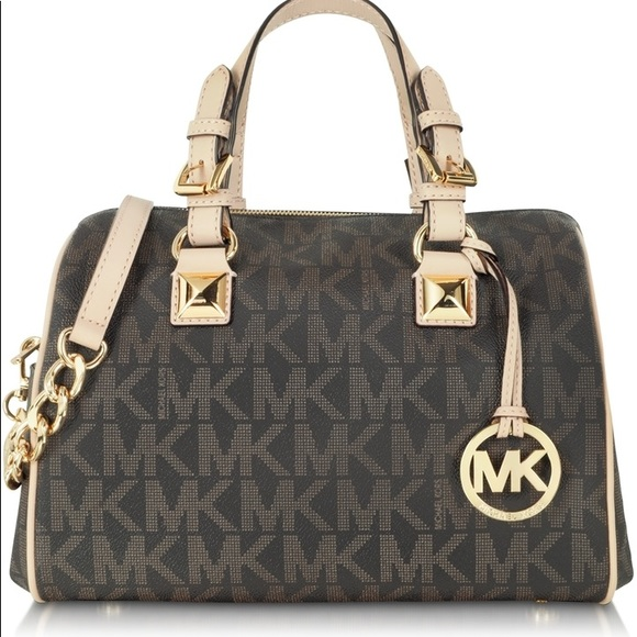 cbbaf929cdfd Michael Kors Grayson Brown MD chain Satchel